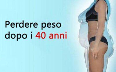 PERDERE PESO NELLE DONNE DOPO I 40……